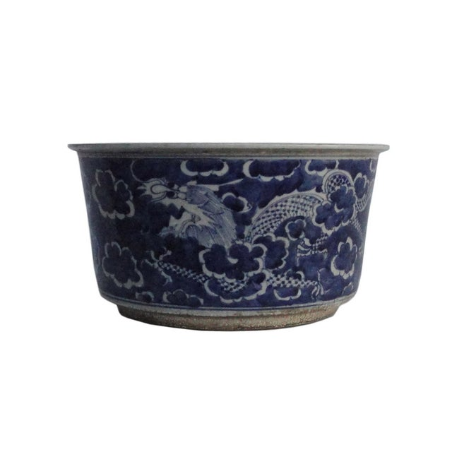 Chinese Porcelain Blue & White Flower Pot Planter - Image 1 of 4