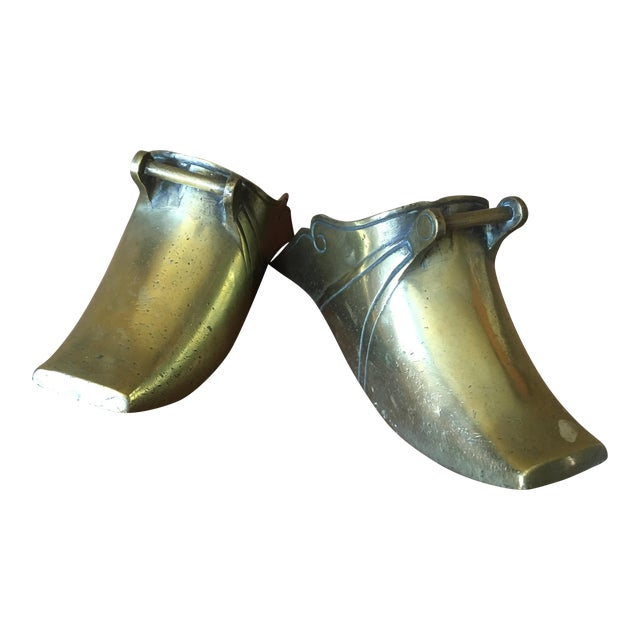 Spanish Colonial Brass Stirrups - a Pair - Image 1 of 9
