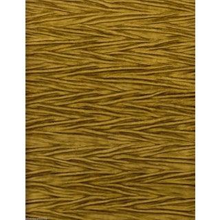 Koroseal Gold Pleated Koroka Velvet - 5.875 Yards