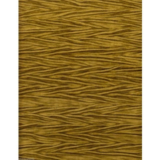 Koroseal Gold Pleated Koroka Velvet - 5.875 Yards