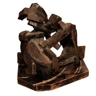 1970's Brutalist Steel Sculpture