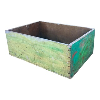 Vintage Distressed Green Painter's Crate