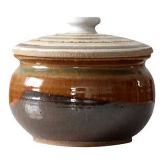 Studio Pottery Bowl With Lid Circa 1970