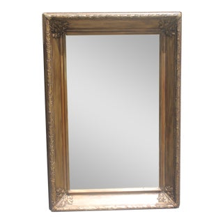 French Carved Giltwood & Giltwashed Wall Mirror