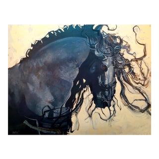 Friesian Stallion Premium Giclee Print
