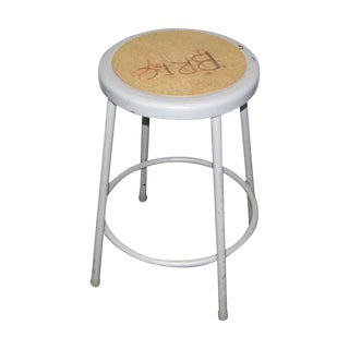 Metal Gray Stool