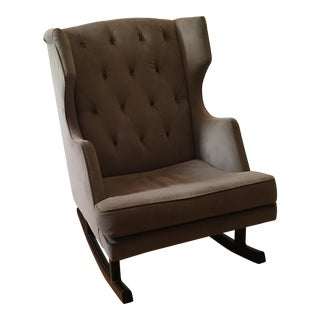 Gray Oversized Rocking Chair