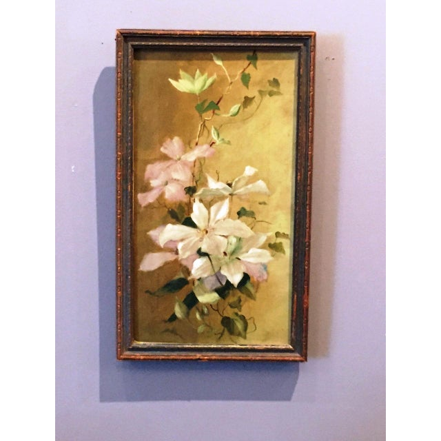 Victorian Painting of Clematis - Image 2 of 3