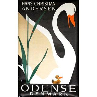 1960s Danish Modern Ugly Duckling Poster by Viggo Vagnby Hans Christian Andersen