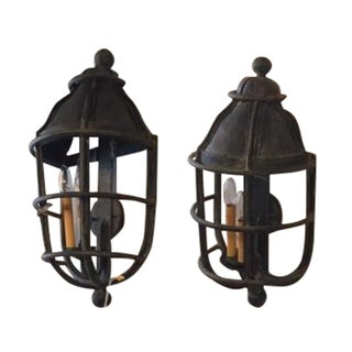 Kreiss Iron Wall Sconces - A Pair