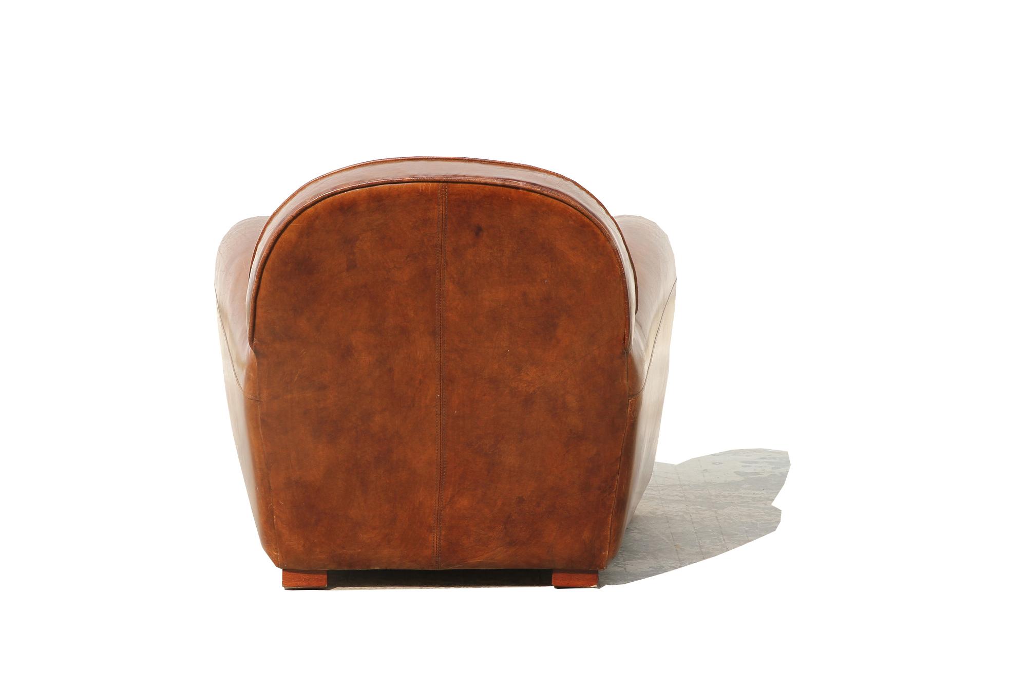 Pasargad Genuine Leather Paris Club Chair   Image 5 Of 5