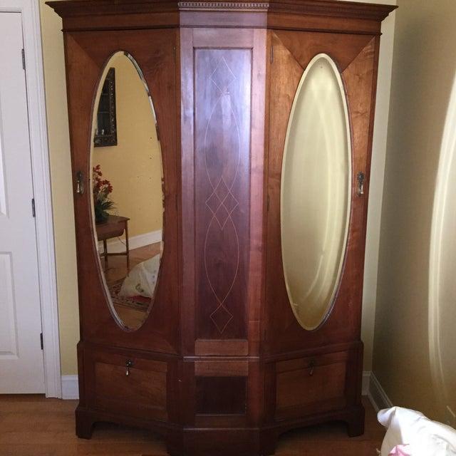 Antique English Walnut Wardrobe - Image 2 of 11