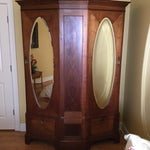 Image of Antique English Walnut Wardrobe