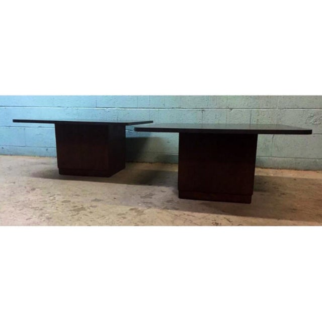 Vintage Slate & Walnut Coffee Tables - A Pair - Image 2 of 5