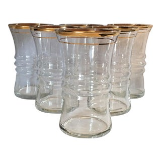Vintage Anchor Hocking Clear Glass Tumblers - Set of 6