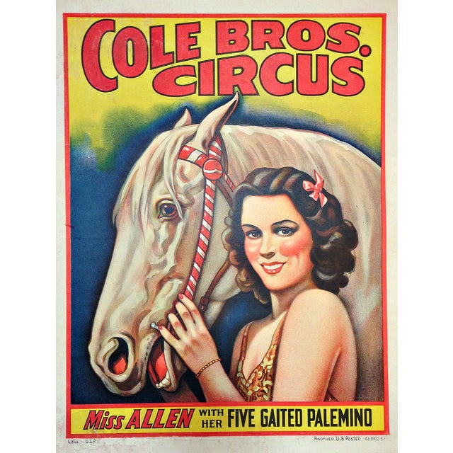 Vintage Cole Bros. Circus Poster - Image 1 of 4
