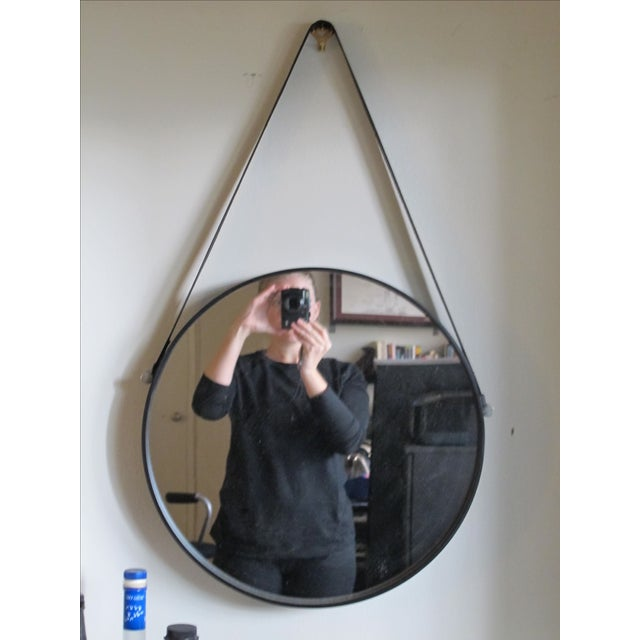 Image of Leather Strap Hanging Mirror