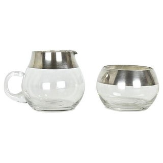 Dorothy Thorpe Silver-Plated Cream & Sugar