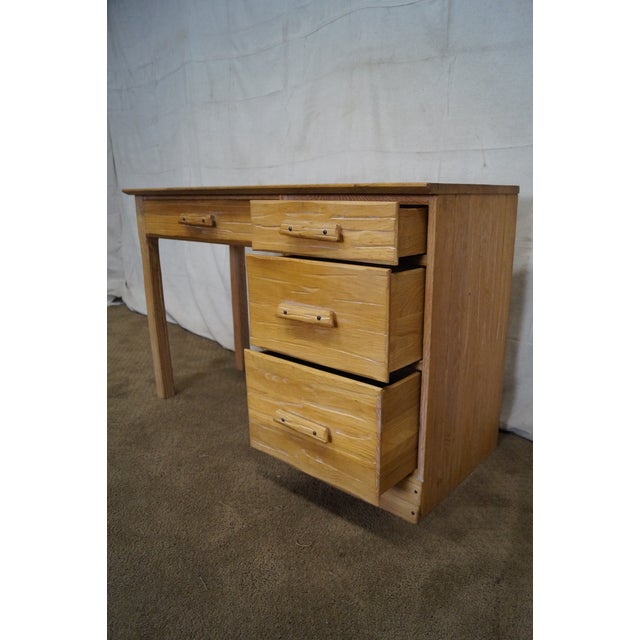 Brandt Ranch Oak Rustic Southwest Style Writing Desk (A) - Image 10 of 10