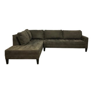 Z Gallerie Microsuede Left Chaise Sectional Sofa