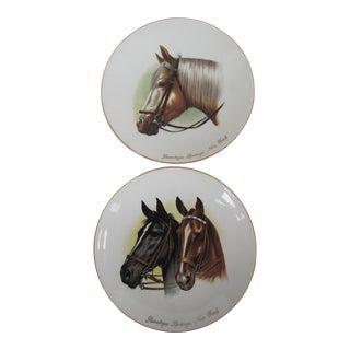 Saratoga Springs Equine Plates - a Pair