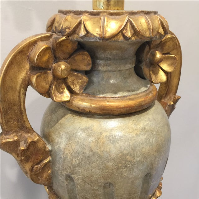 Vintage Italian Painted Urn Form Table Lamp - Image 5 of 9
