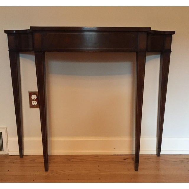 Vintage Demi Lune Console Table - Image 2 of 8