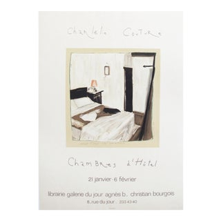 1985 French Charlelie Couture Poster, Chambres d'Hotel