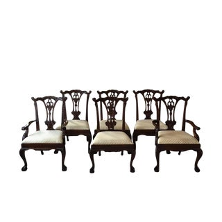Vintage Mahogany Dining Chairs- Set of 6