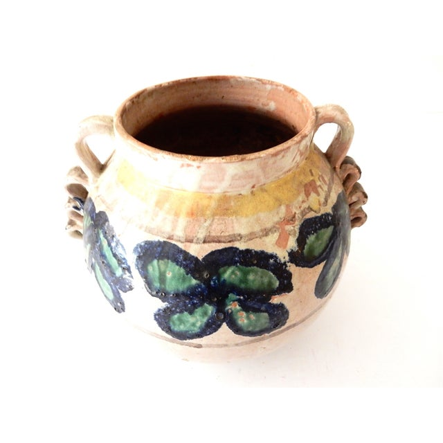 Painted Mexican Pottery Vase - Image 6 of 9