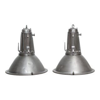 XXL Vintage Philips Industrial Lamps - A Pair