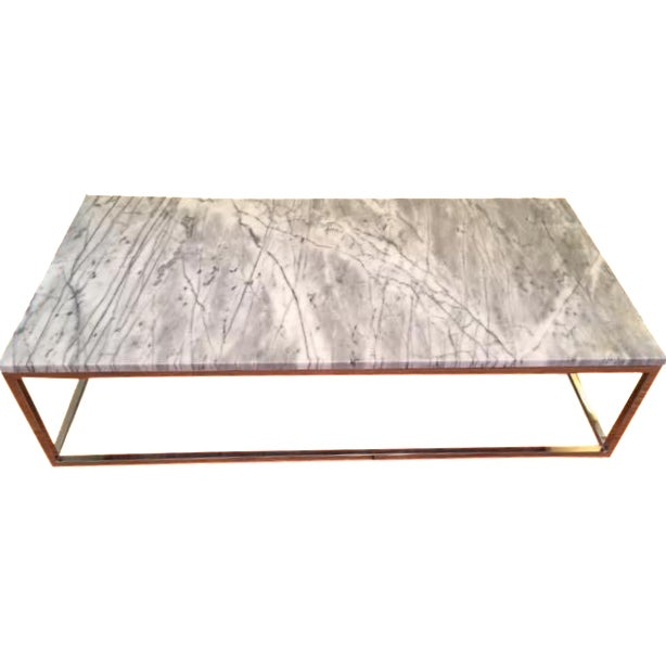 cb2 marble top coffee table chairish