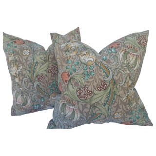Linen William Morris Golden Lily Pillows