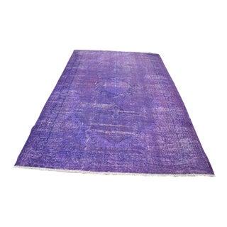 Handmade Turkish Purple Rug - 6′2″ × 9′4″