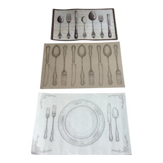 Illustrative Silverware Prints - Set of 3