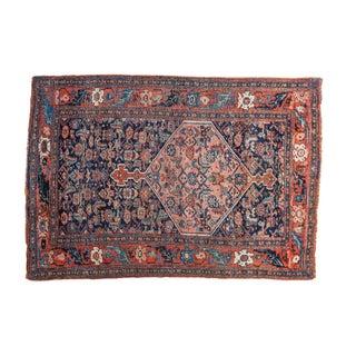 """Antique Persian Bijar Rug - 3'1"""" x 4'6"""""""