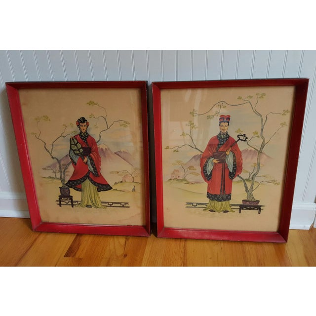 Vintage Chinois Prints - Pair - Image 2 of 4