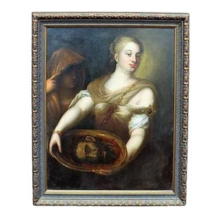 17th Century Painting of Salome with the Head of John the Baptist