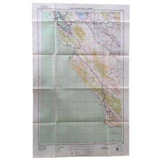 WWII Era U.S. Army War Map - 1939 San Francisco