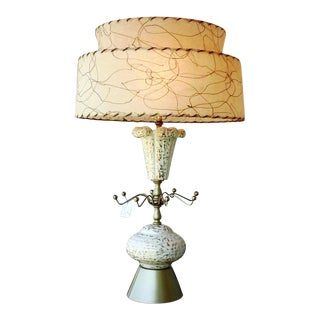 Atomic Mid-Century Vintage 1950s Table Lamp