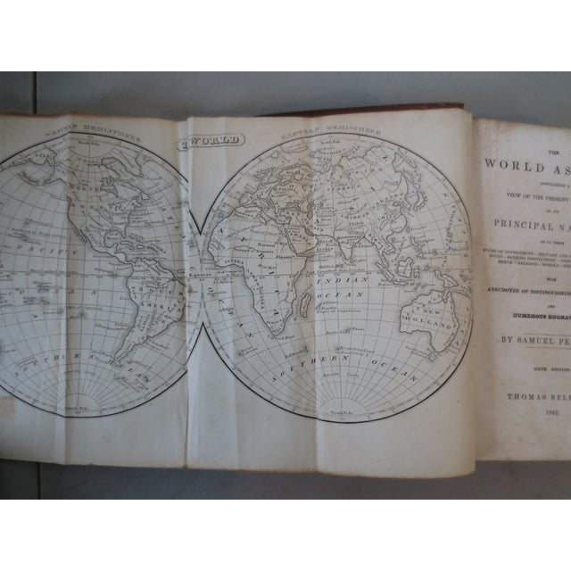 Image of The World as It Is, Perkins, 1842, With Map
