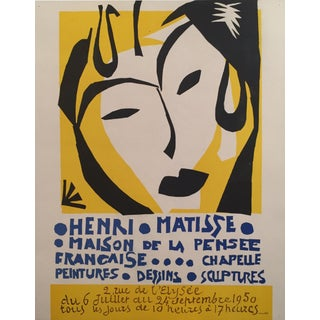 Vintage Original Matisse Exhibition Poster - Maison de la Pensée Française