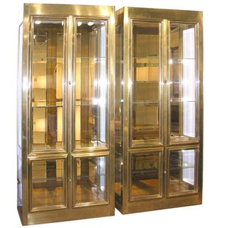 Vintage Mastercraft Brass Display Cabinet