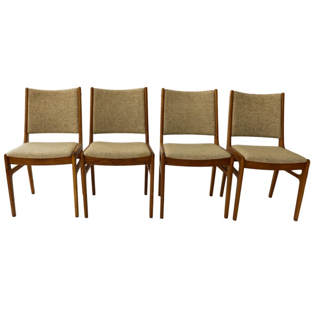 Vintage D-Scan Danish Teak Chairs - Set of 4 - Image 1 of 10