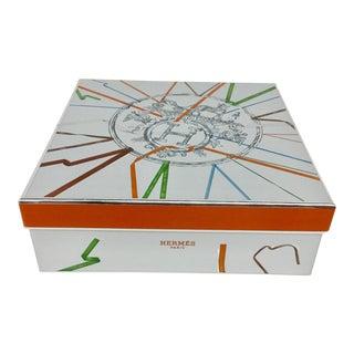 Heavy Silver Cardboard Gift Box by Hermès