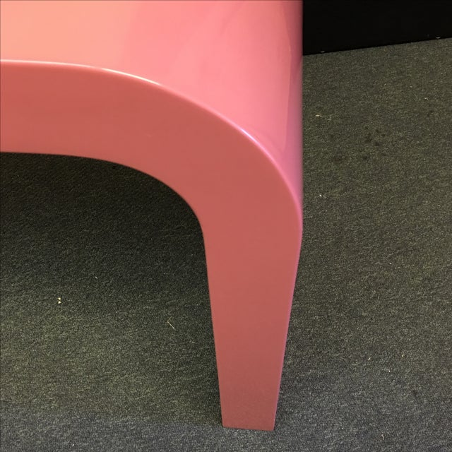 Image of Pink Lacquer Waterfall Console