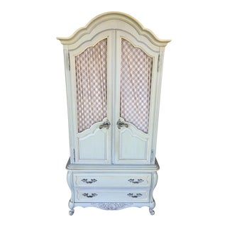 Hickory White French Provincial Armoire