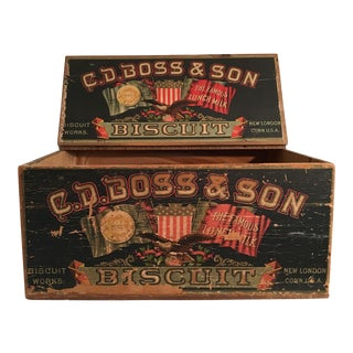 Vintage Boss Biscuit Box