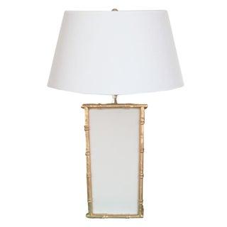 Dana Gibson White Bamboo Table Lamp