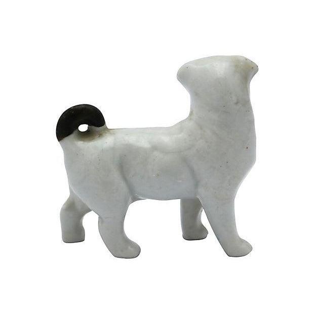Antique English Porcelain Miniature Pug - C. 1840 - Image 3 of 3